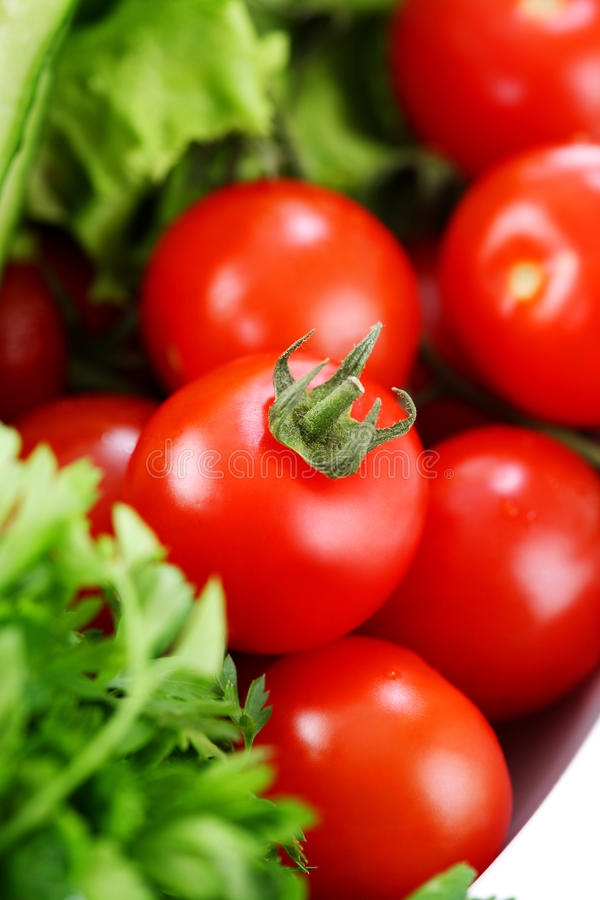 Free Tomatoes Closeup In A Salad 2 Stock Photography - 22130662