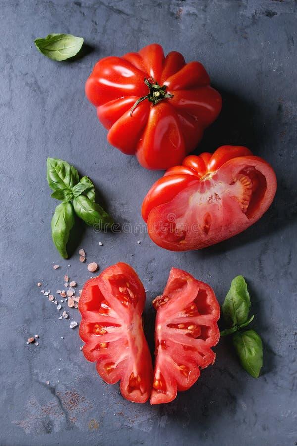 Tomatoes Coeur de Boeuf Ντομάτα μπριζολών στοκ φωτογραφία με δικαίωμα ελεύθερης χρήσης