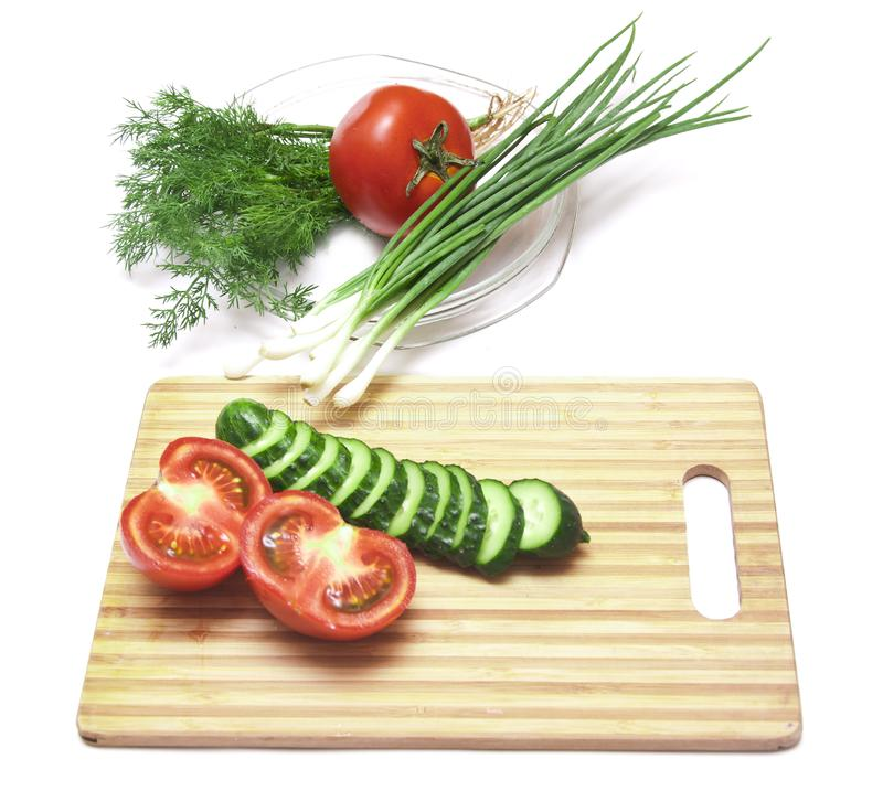 Download Tomatoes and cucumbers stock image. Image of ingredient - 14724075