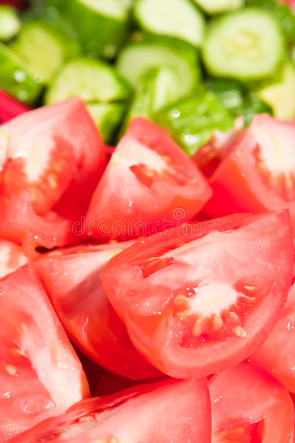 Download Tomatoes And Cucumbers Royalty Free Stock Image - Image: 15082806