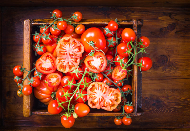 Tomatoes food background. stock images