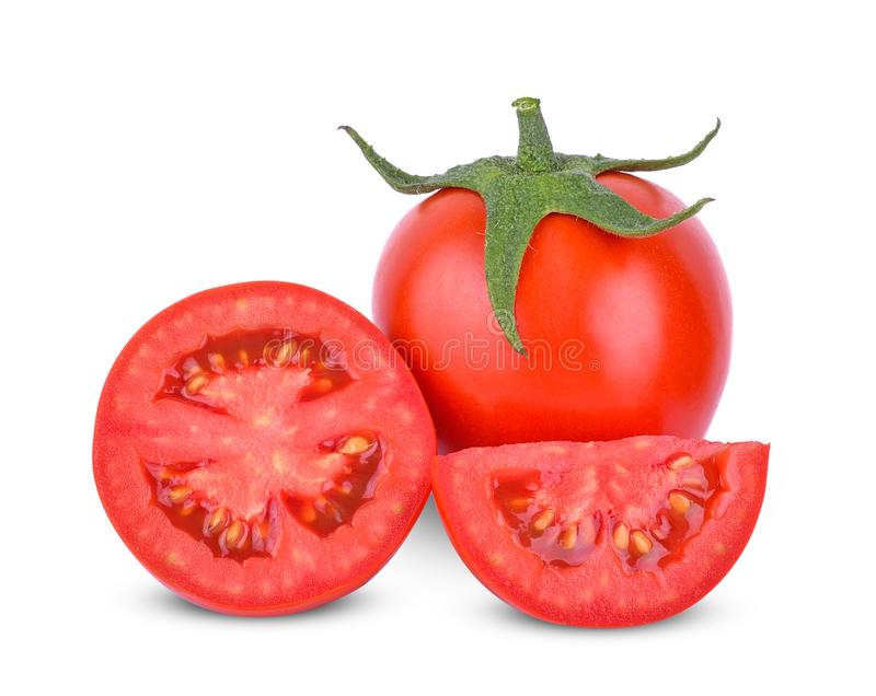 Tomatoes isolated on white background royalty free stock photos
