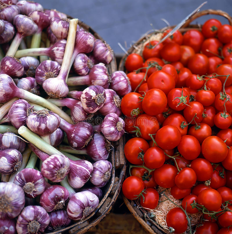 Tomatoes And Onions Stock Image