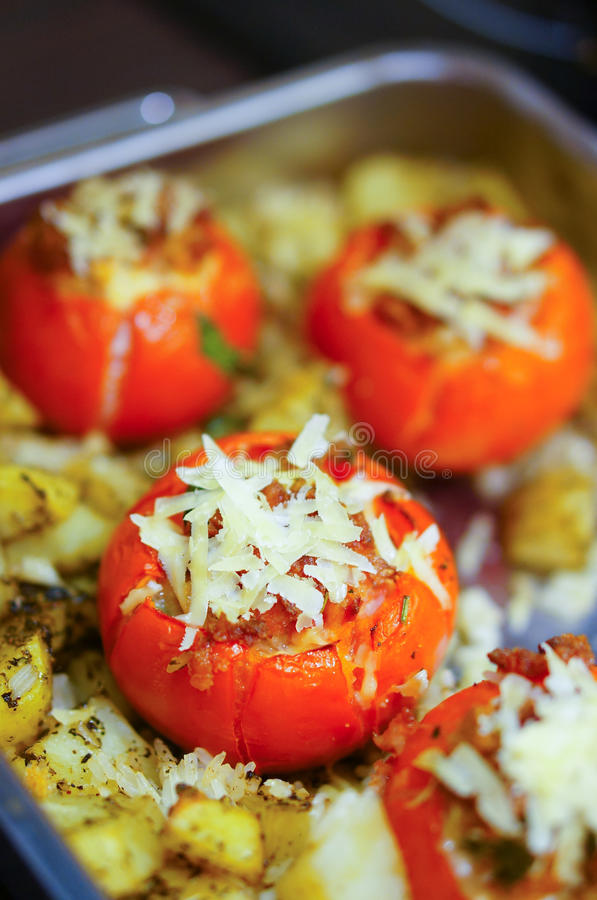 Tomatoes from oven stock image