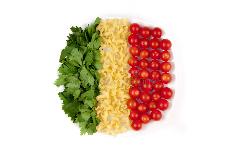 Download Tomatoes, pasta and herb stock image. Image of group - 22115059
