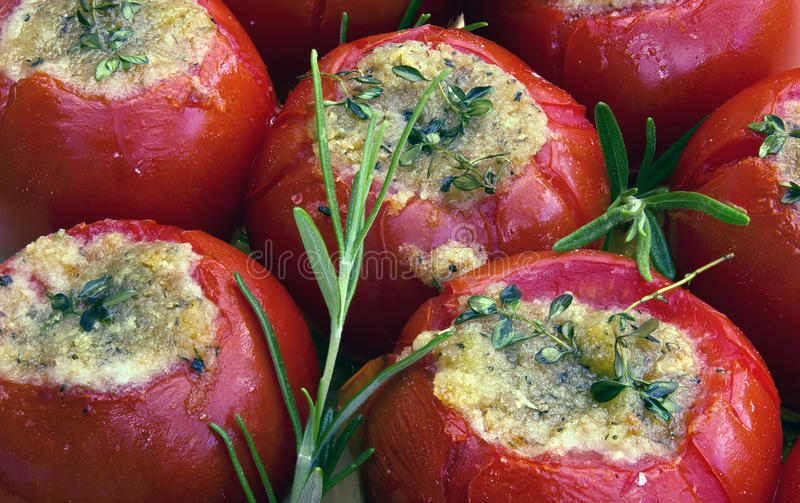 Tomatoes in provencal style. Grill-Tomatoes in provencal style royalty free stock photos