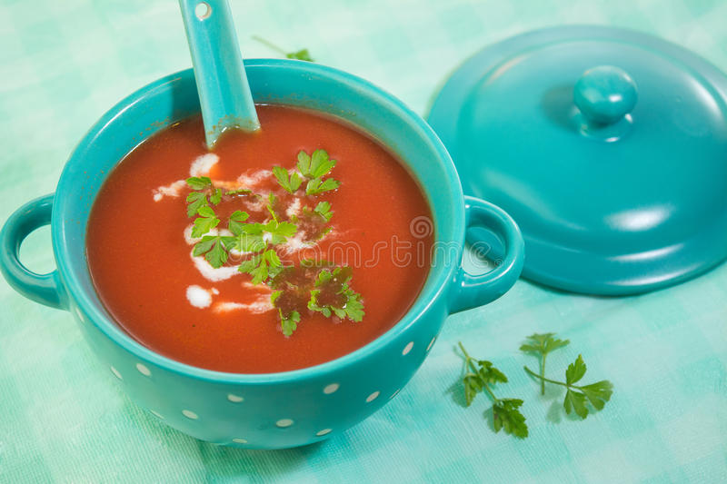 Tomatoes soup royalty free stock images