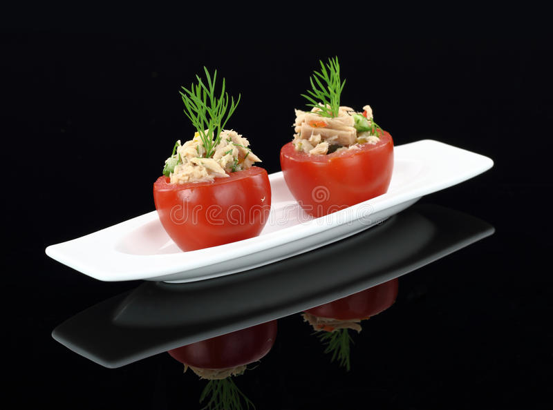 Download Tomatoes stuffed with tuna stock photo. Image of cuisine - 24074972