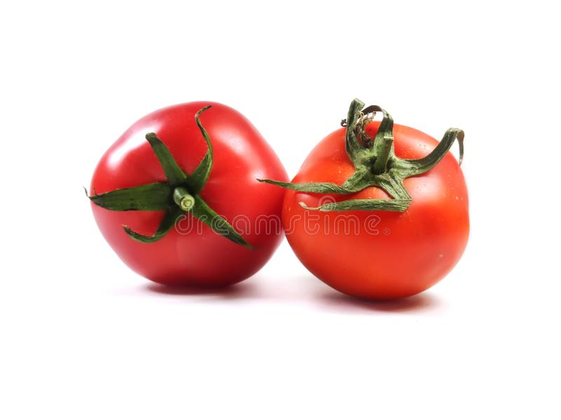 Tomatoes on a white background. Food, vegetable, red tomato. royalty free stock photos