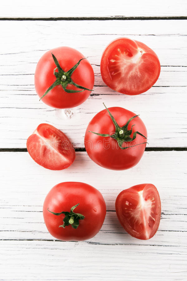 Tomatoes on a white background royalty free stock images