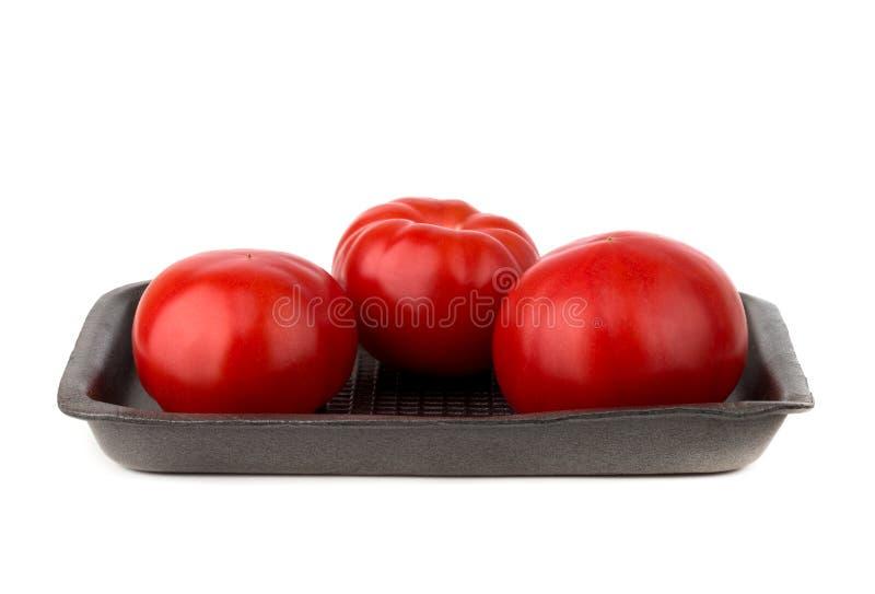 Tomatoes on a white background. stock photos