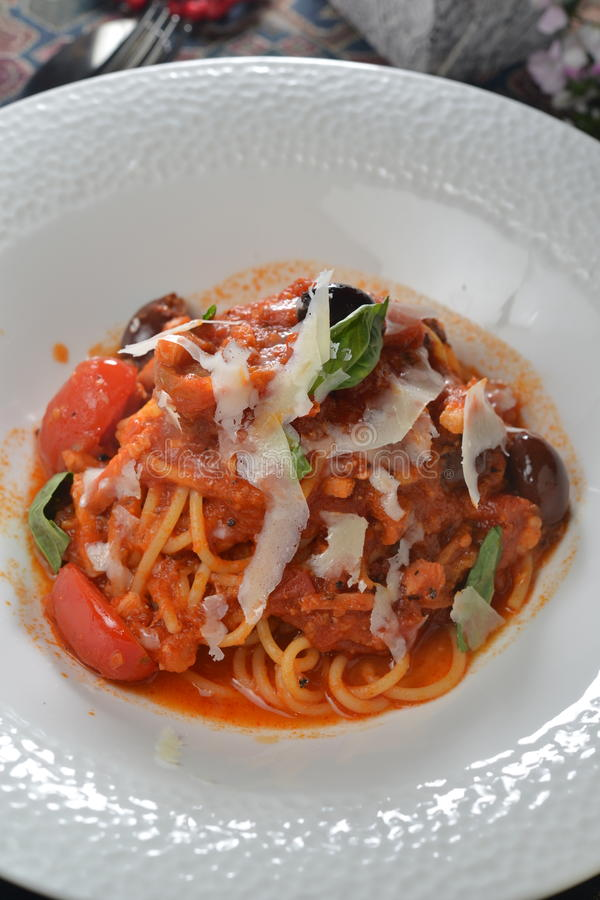 Tomatpancetta arkivbild