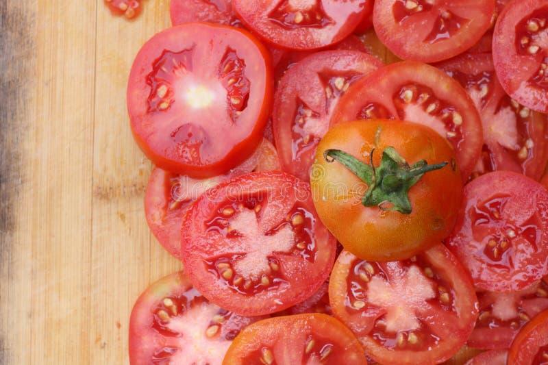 Tomatskiva royaltyfri fotografi
