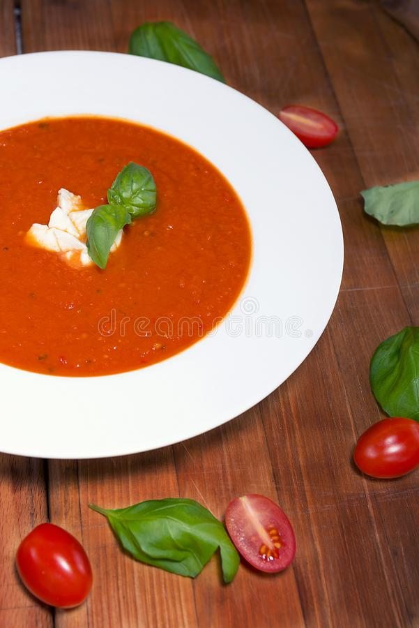 Tomatsoep royalty-vrije stock foto