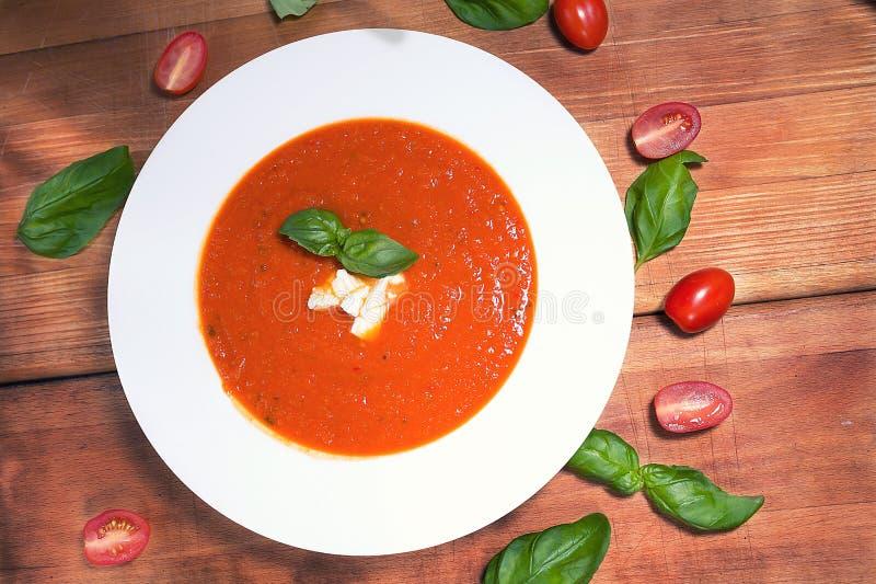 Tomatsoep stock foto