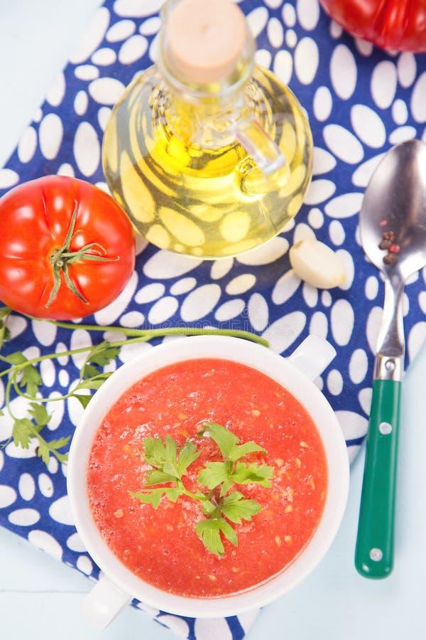 Tomatsoppa fotografering för bildbyråer