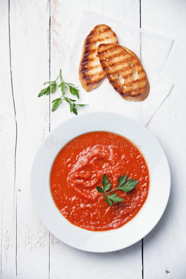 Tomatsoup Gazpacho royaltyfri bild