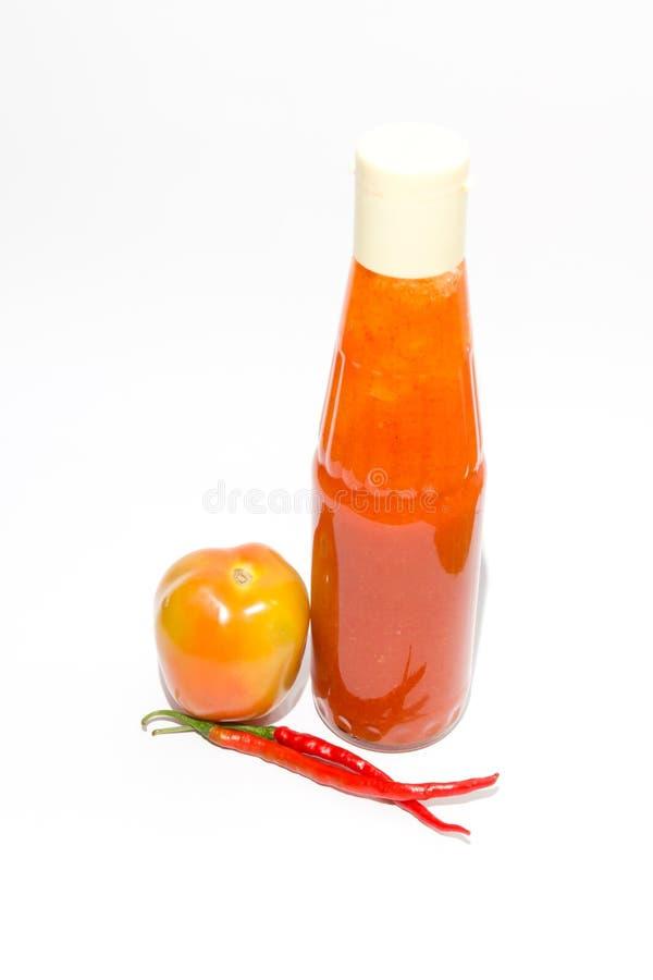 tomatto de sauce à /poivron images libres de droits