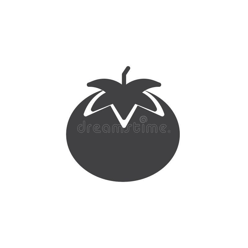 Tomatvektorsymbol vektor illustrationer