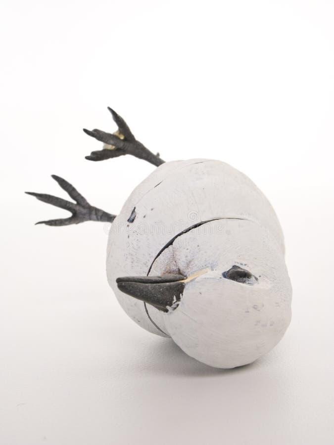 Tombé au-dessus de l'oiseau mécanique de la tête photographie stock libre de droits