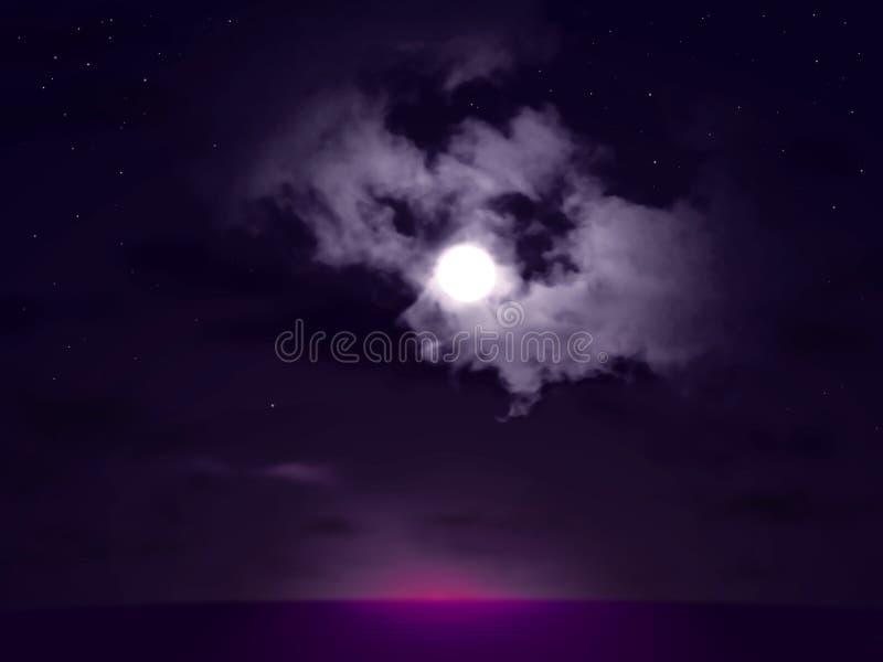 Tombée de la nuit d'océan photographie stock