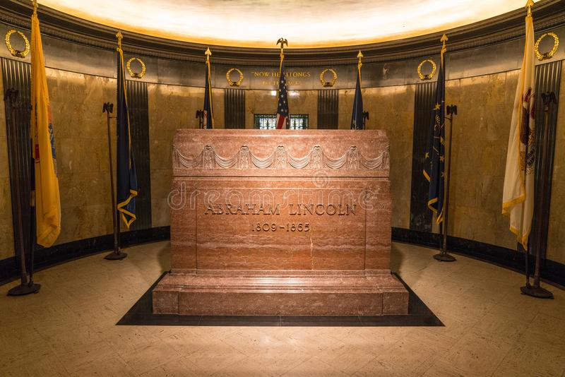 Tomb of Abraham Lincoln stock images