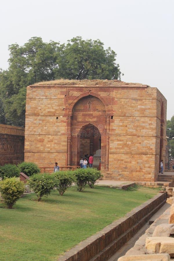 Tomb of Altamash at Qutub Minar Complex stock photography