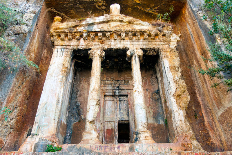 Tomb of Amyntas royalty free stock photography