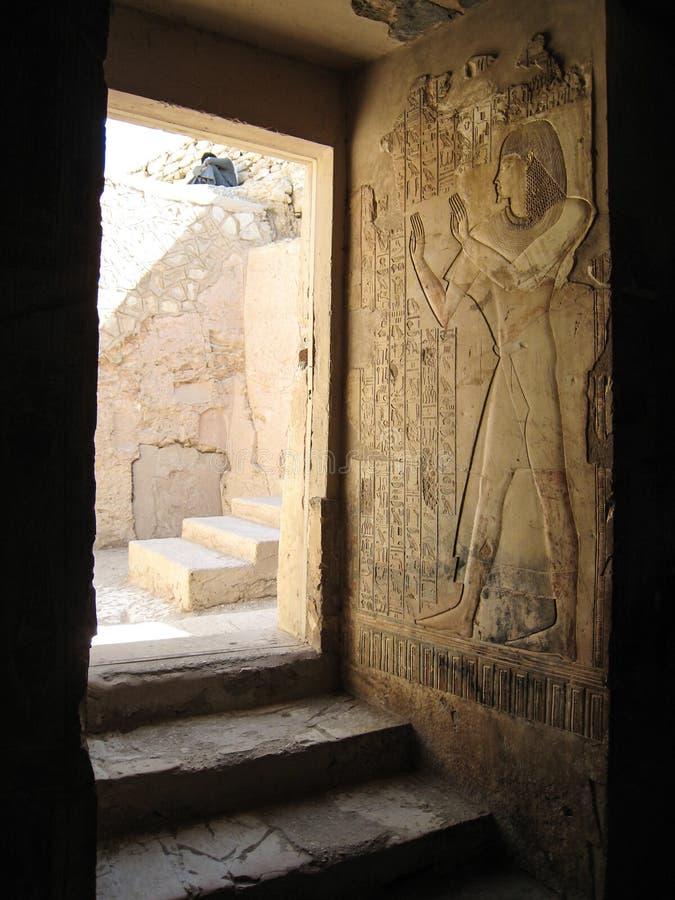 Tomb av Userhat. Luxor. royaltyfri fotografi
