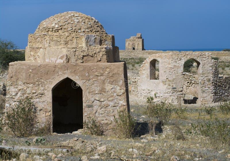 Tomb of Bibi Miriam, a holy woman, Qalahat, Oman, stock photography