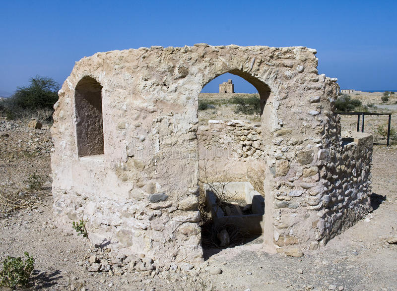 Tomb of Bibi Miriam, a holy woman, Qalahat, Oman, royalty free stock photos