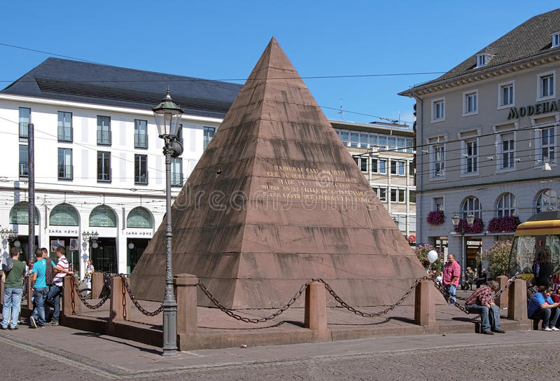 Tomb of Charles III William in Karlsruhe, Germany stock photography