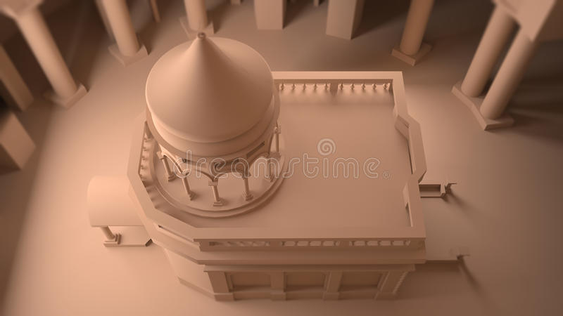 Tomb of Christ, the Holy Sepulcher, restructuring, Jerusalem Church, Christian Quarter. Israel royalty free stock image