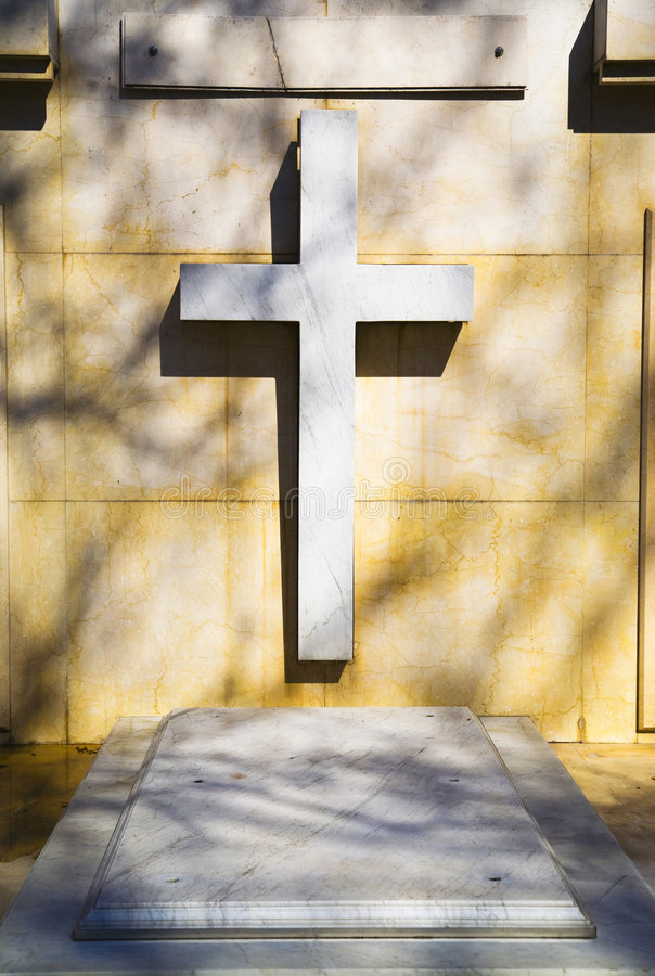 Tomb cross royalty free stock photography