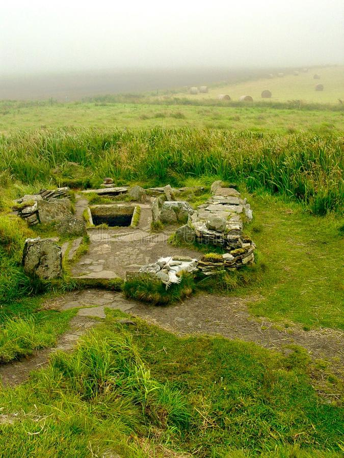 Tomb of the Eagles. Neolithic tomb of the eagles, Main Island, the Orkneys stock photo