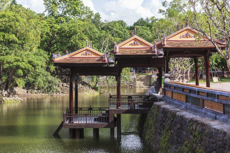 Tomb of Emperor Tu Duc in Hue, Vietnam. This photo is taken in Hue Old Capital. Tomb of Tự Đức Vietnamese: Lăng T stock image