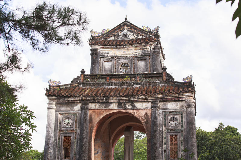 Tomb of Emperor Tu Duc in Hue, Vietnam. This photo is taken in Hue Old Capital. Tomb of Tự Đức Vietnamese: Lăng Tự Đức, officially royalty free stock photography