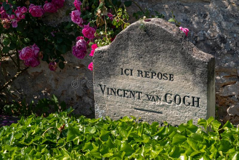 Van Gogh Tomb. The tomb of the famous artist, painter, Vincent Van Gogh at Auvers-sur-Oise, France royalty free stock photos