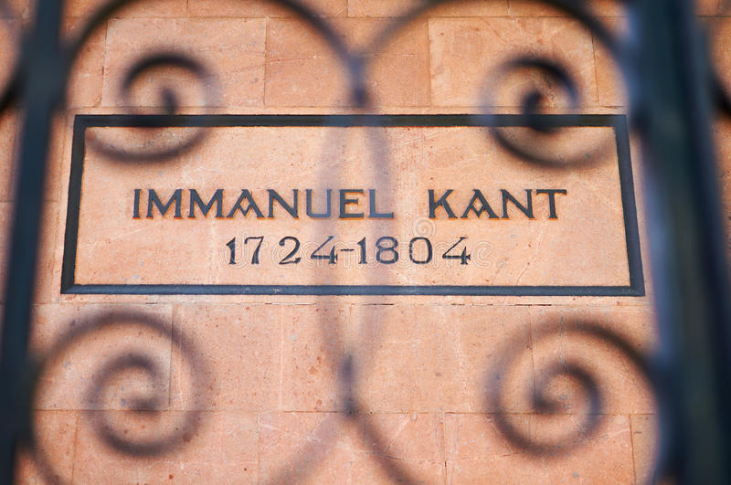 Tomb of the German philosopher Immanuel Kant royalty free stock photography