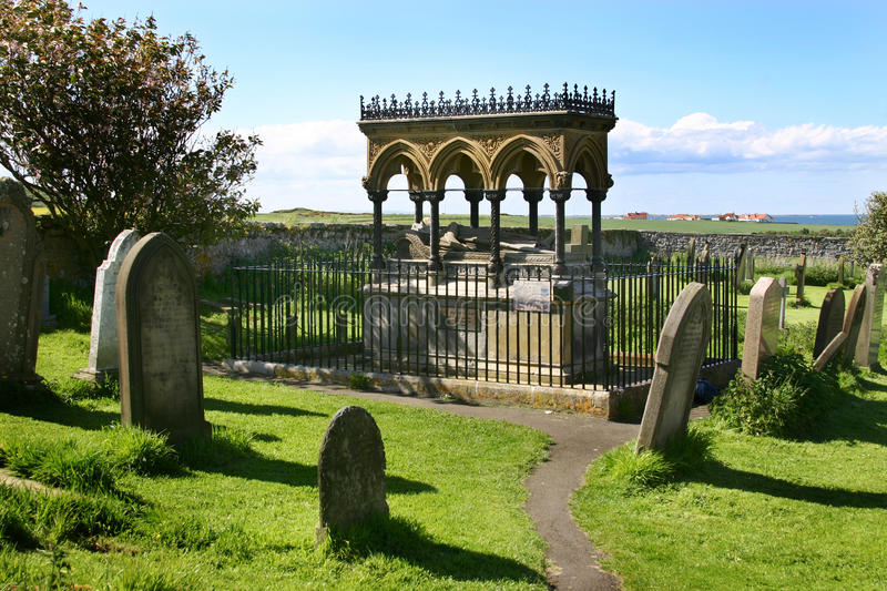 Tomb of Grace Darling. Tomb of Grace Darling at Saint Aidan's church in Bamburgh who, with her father, saved 13 people from drowning in 1838 royalty free stock photos