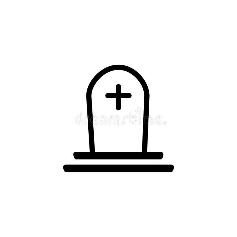Tomb icon Christian death symbol ilustração do vetor