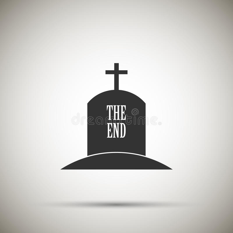Tomb icon. Isolated on background. Vector illustration. Eps 10 stock illustration