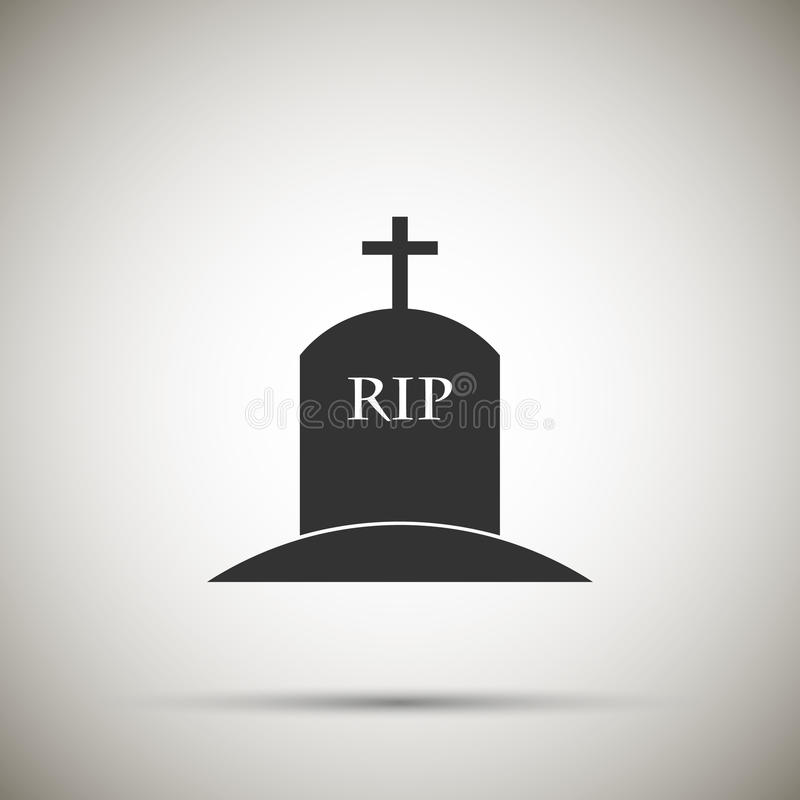 Tomb icon. Isolated on background. Vector illustration. Eps 10 vector illustration