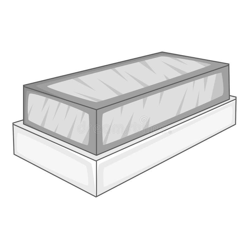Tomb icon, monochrome style. Tomb icon. monochrome illustration of tomb icon for web vector illustration
