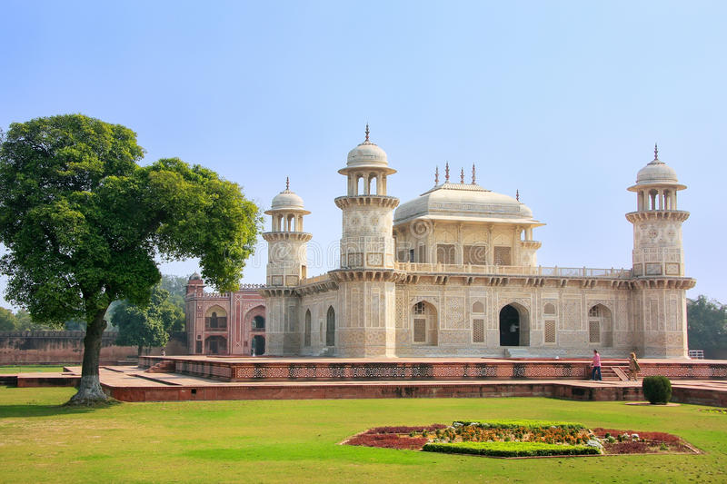 Tomb of Itimad-ud-Daulah in Agra, Uttar Pradesh, India. This Tomb is often regarded as a draft of the Taj Mahal stock images