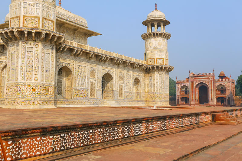 Tomb of Itimad-ud-Daulah in Agra, Uttar Pradesh, India. This Tomb is often regarded as a draft of the Taj Mahal royalty free stock images