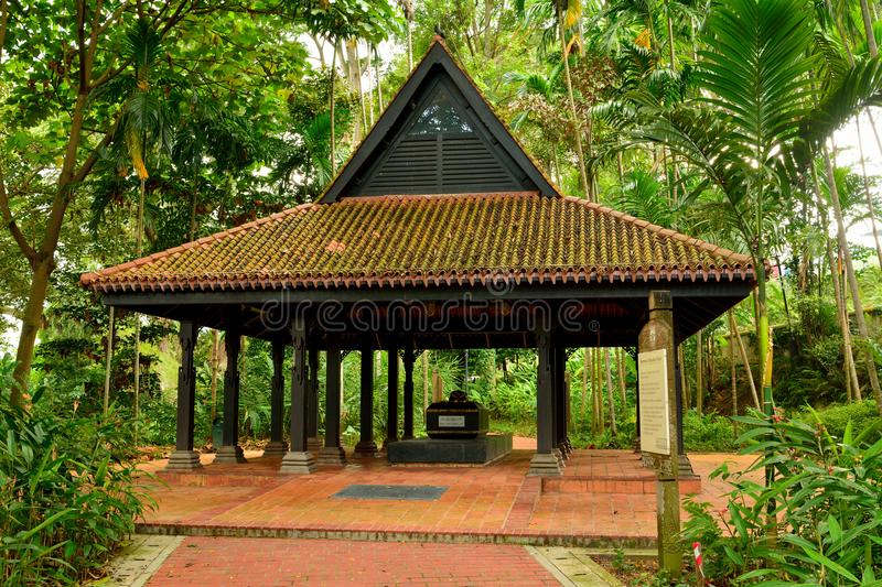Tomb of Keramat Iskandar Shah at Fort Canning in Singapore. royalty free stock images