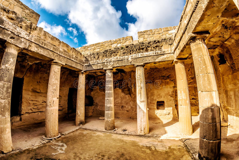 Tomb of the Kings, UNESCO World Heritage Site. Paphos, Cyprus.  stock image