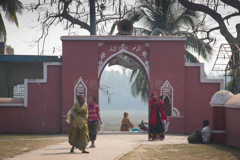 Tomb Mosque of Khan Jahan Ali in bagerhat, Bangladesh stock images