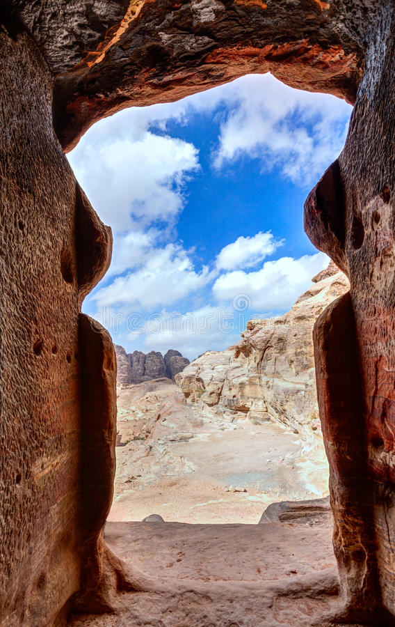 Tomb in Petra royalty free stock images